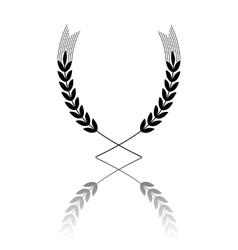 Wheat icon with reflection vector