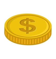 Money cash coins icon vector