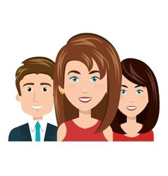 Character women and man smiling recruiter employee vector