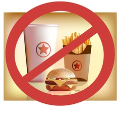 Fastfood harm for health vector