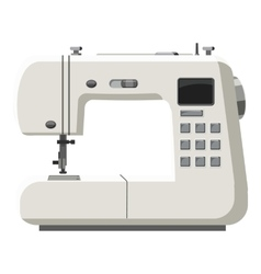 Sewing machine icon cartoon style vector