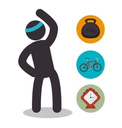 Athlete silhouette fitness lifestyle vector