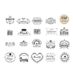 Badges professions in the beauty industry sticker vector