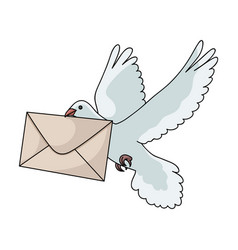 Post pigeonmail and postman single icon in vector