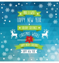 Poster merry christmastypography vector