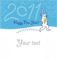 Greeting card with hare vector