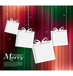 Abstract christmas card with gifts vector