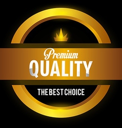 Premium quality label design vector