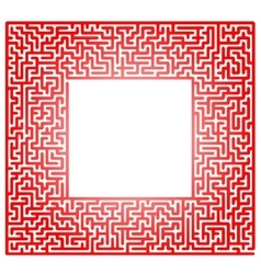 Red labyrinth isolated on white background vector