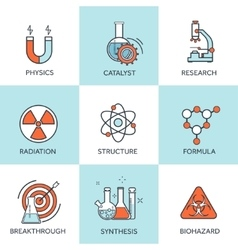 Medical research flat vector