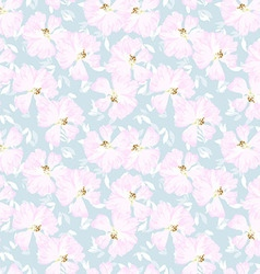 Pattern with flowers of rose hips vector