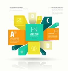cube box for business concepts vector image