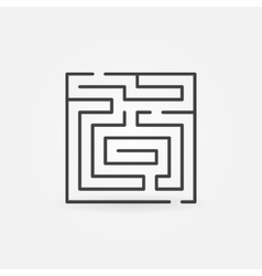 Maze thin line icon vector