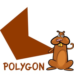 polygon shape with cartoon hamster vector image