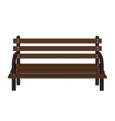 Wooden old chair icon vector