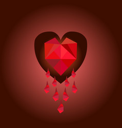 abstract red heart vector image