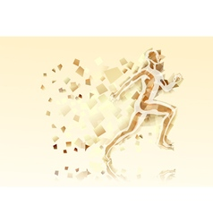 abstract running man vector image vector image