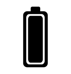battery level isolated icon vector image vector image