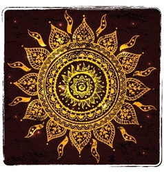 Beautiful Indian ornament vector image vector image