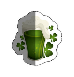 beer green celebrarion icon vector image