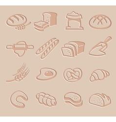 Bread icon set vector