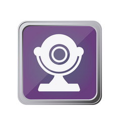 Button with desktop webcam with background purple vector