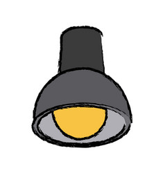 Ceiling lamp bulb with electricity light vector