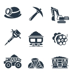 Coal industry icons vector image