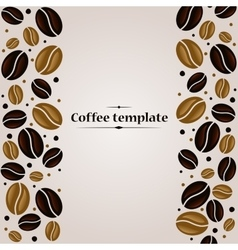 Coffee beans vintage cover design template vector image vector image