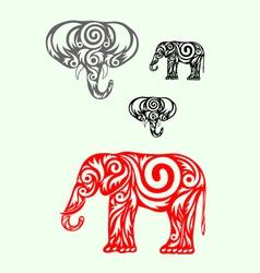 Elephant ornate vector
