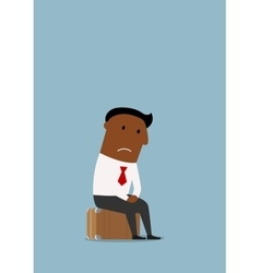 Frustrated businessman lost his job vector