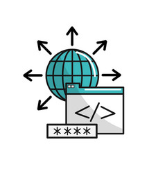 Global documents data with key security vector