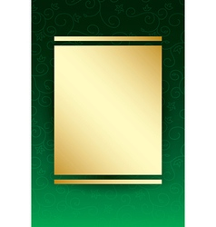 Green background with gold center vector