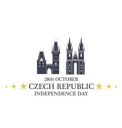 Independence Day Czech Republic vector image