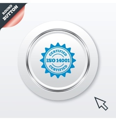 ISO 14001 certified sign Certification stamp vector image vector image