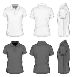 Mens short sleeve polo-shirt design templates vector