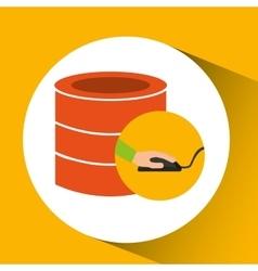 programer software storage data vector image
