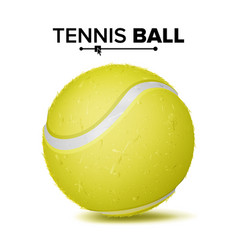 realistic tennis ball classic round yellow vector image vector image