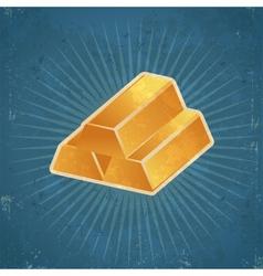 Retro gold bars vector