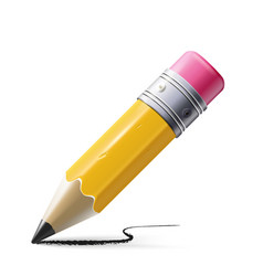 sharp pencil isolated on vector image