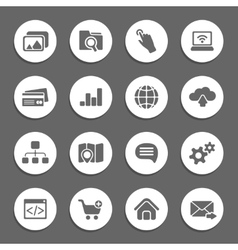 silhouette web icons vector image vector image