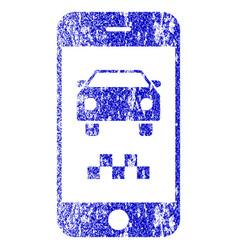 Smartphone taxi car textured icon vector