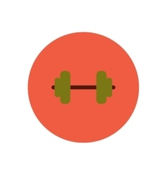 Stylish icon in color circle barbell sport vector