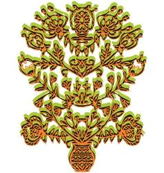 Symmetrical openwork vytynanka vector