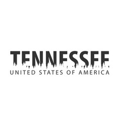 Tennessee usa united states of america text or vector