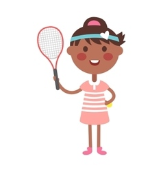 Tennis player girl vector image