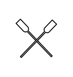two oars icon vector image