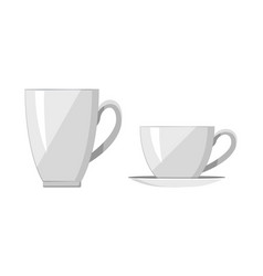 Two white cups bright banner vector
