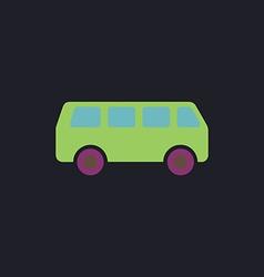 van computer symbol vector image vector image