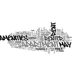 What does the rent include text word cloud concept vector